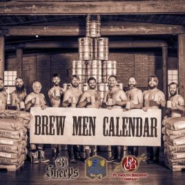 Brew Men Calendar - Three Sheeps Brewing, 8th Street Ale Haus and Plymouth Brewing take their clothes off to fight cancer.